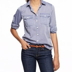 J.Crew Perfect Fit End-on-end Camp Shirt